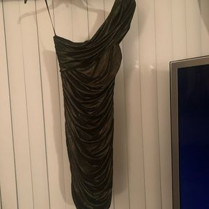 Sexy one shoulder glittery dress